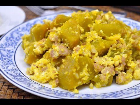 ฟักทองผัดไข่ใส่หมู 1