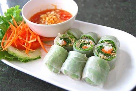 อาหารเวียดนามเปาะเปี๊ยะสดเวียดนาม