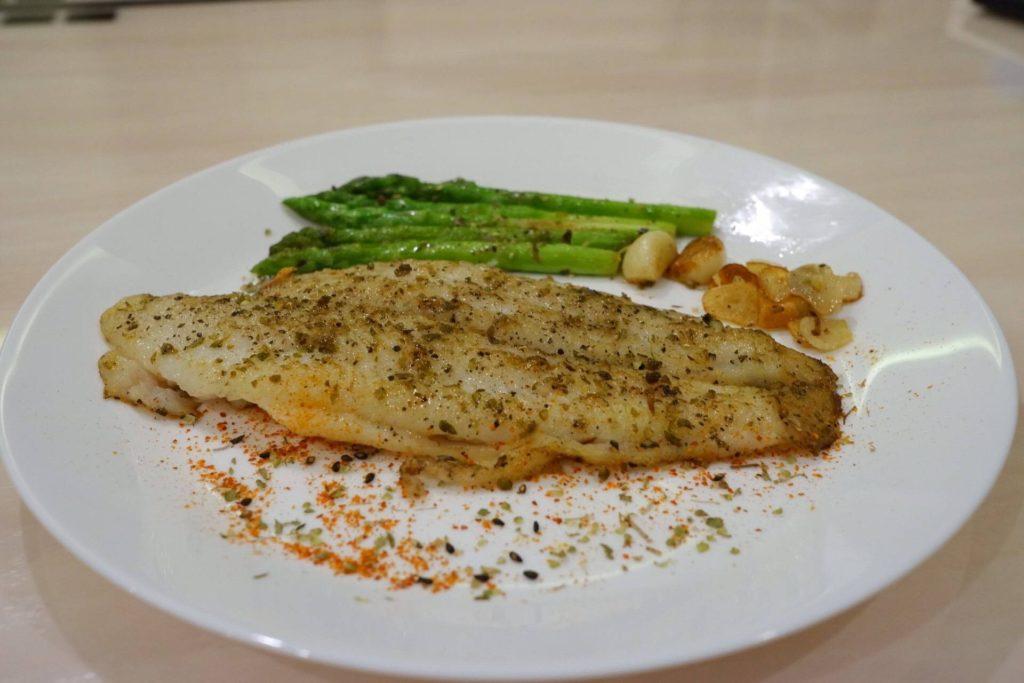 อาหารจากปลาดอรี่-ปลาดอรี่ย่าง