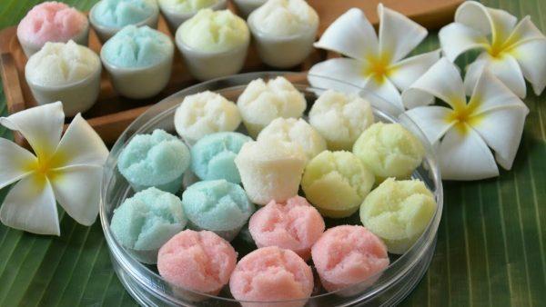 ขนมถ้วยฟู ขนมไทยสีสันสวยงามน่าทาน เมนูขนมอร่อยหาทานได้ง่าย ๆ